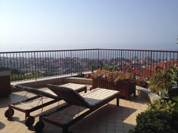 Splendida vista mare a Bordighera