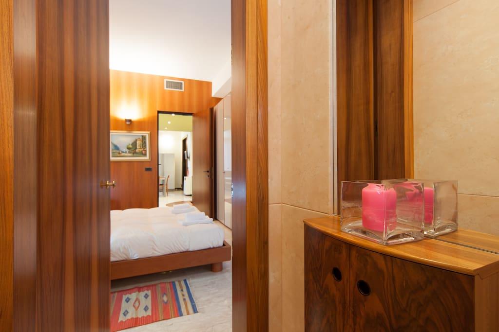 Vista del bagno privato della 1 camera matrimoniale