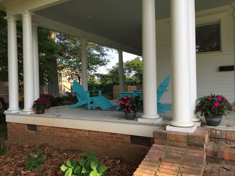 Huge covered wrap around porch, enjoy it rain or shine