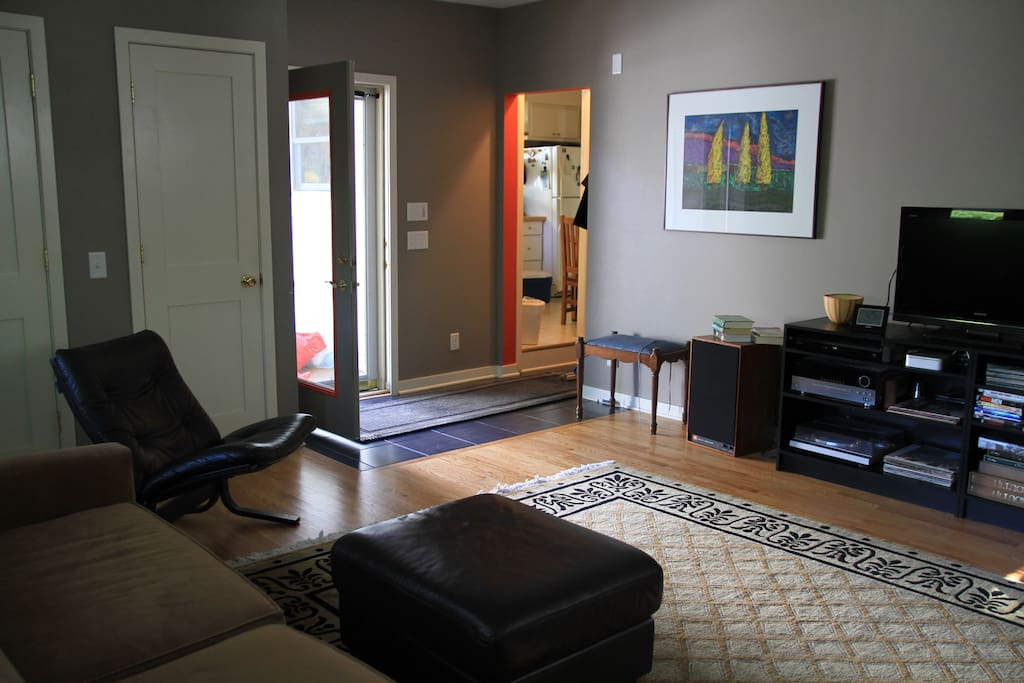 Backdoor to deck and kitchen very convenient
