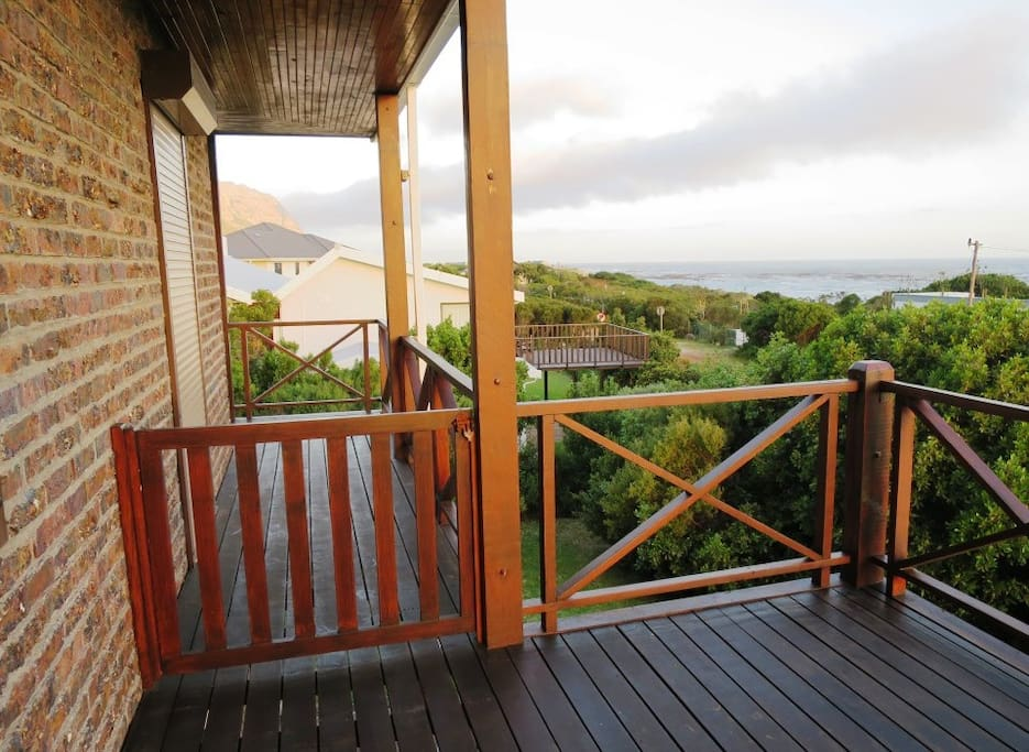 Deck on sea side, with sea view.