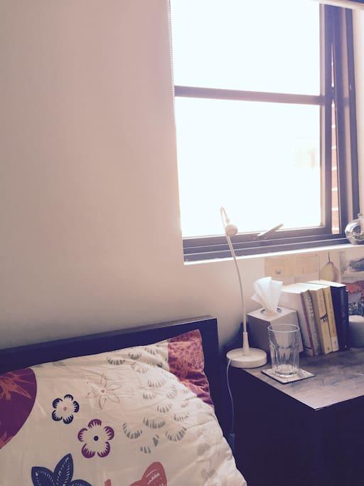 Bedroom, with window