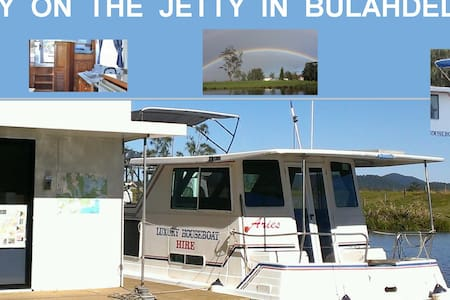 Houseboat Stay 33' boat  for 1-4ppl - Bulahdelah - Barca