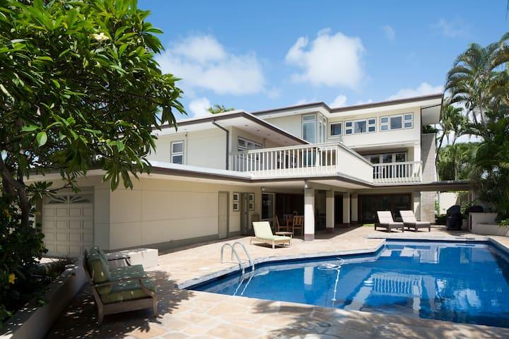AC, Huge House, Gated, Steps From Kailua Beach