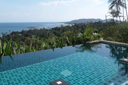 Infinity pool luxury apartment