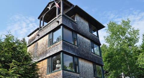 Pagoda House * a Verdant Retreat on Penobscot Bay
