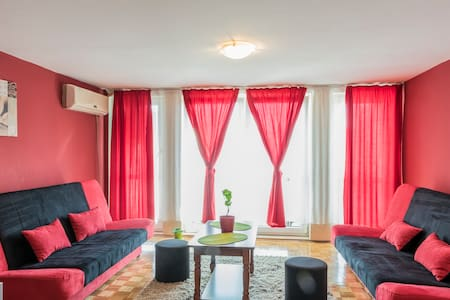 Brand new, fully furnished apartment with balcony and urban views. Great restaurants nearby, bars, shopping, parks & transportation (as it is located in the very center of Novi Sad). Feel free to contact the host regarding airport pick-up