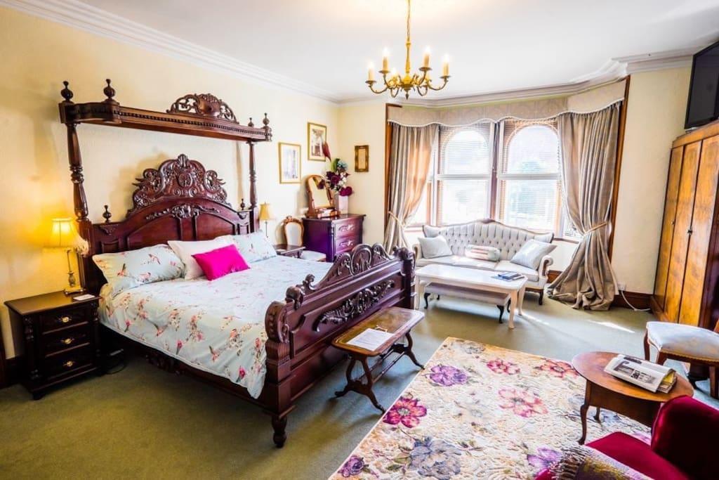 Edwardian bridal suite. Super king bed, 50 inch TV, huge bathroom.