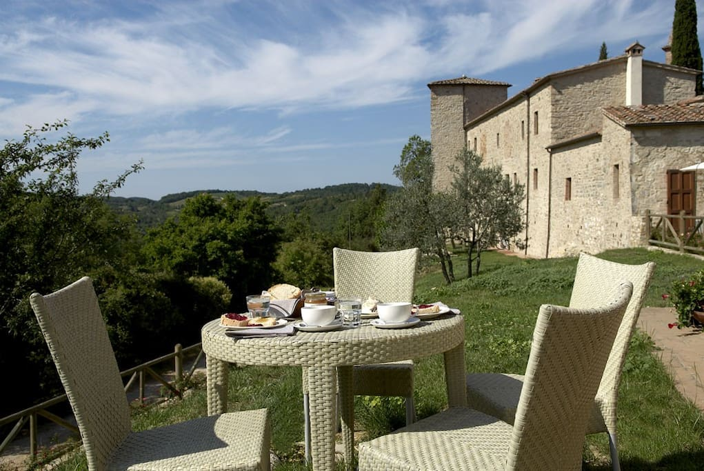 Perfect spot for breakfast on the terrace