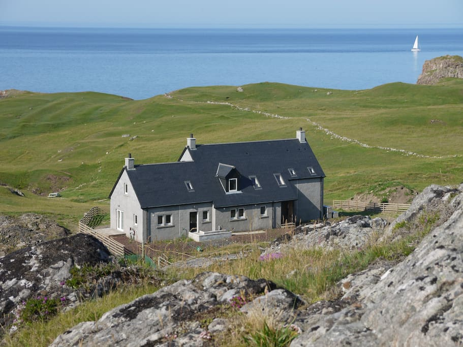 Split Rock Croft House and Cottage - Cottage is the lower roofed section to the left.