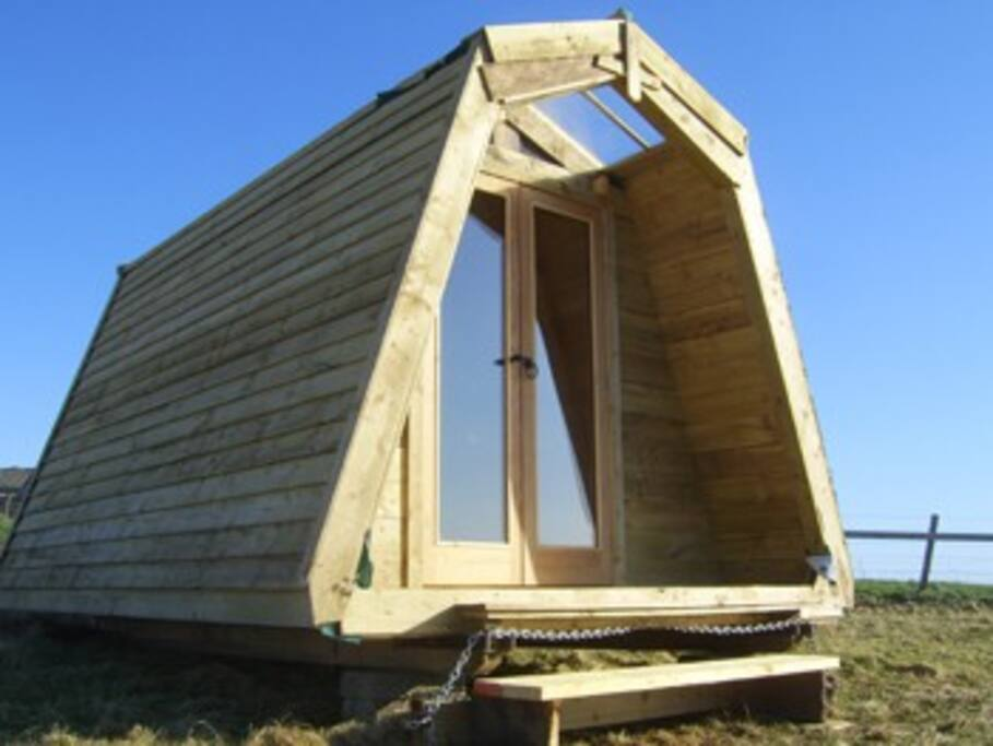 Eco Cabin Exterior - designed and built on the farm
