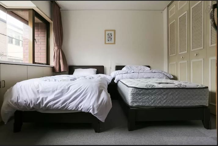 8min to Kyoto sta. 2 single beds - Kyoto  - Alberg