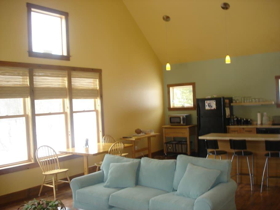 Kitchen living area.