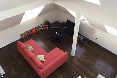 Sunny Loft with Private Rooftop - Zúrich - Loft
