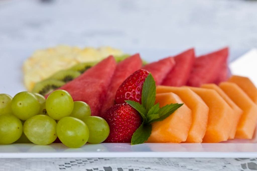 Fresh fruit everyday included in your room rate.