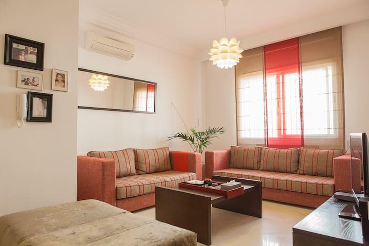 Bright 1 BDR flat - Marsa, Tunis - Marsa - Apartament