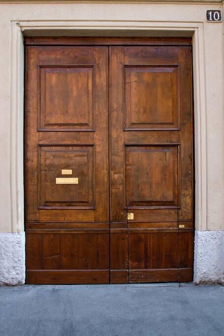The main door on the street