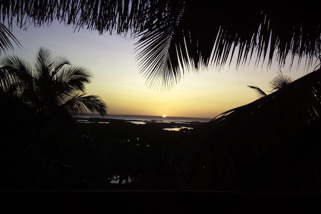 Sunset  from Balcony - overlooks Estuary