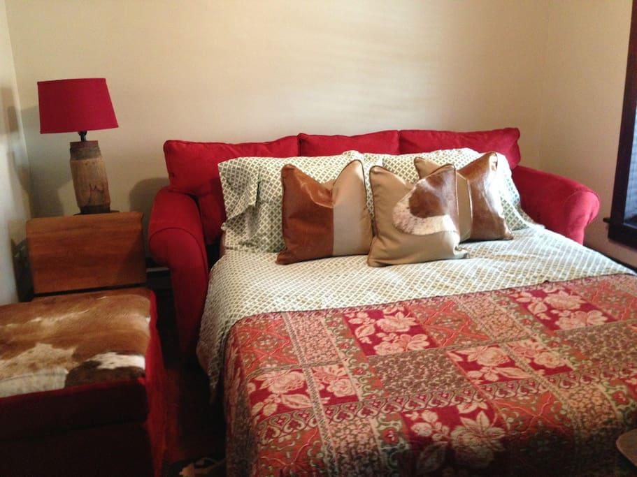 Living room w. Queen Bed