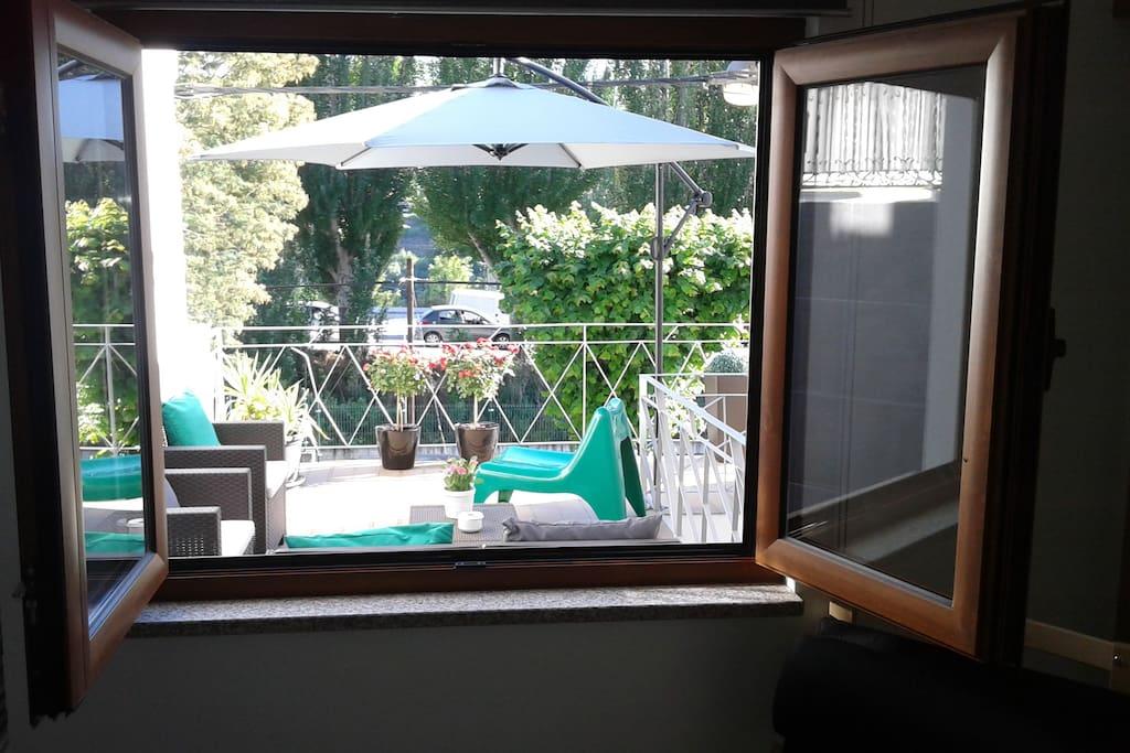 Vista Sala para o terraço
