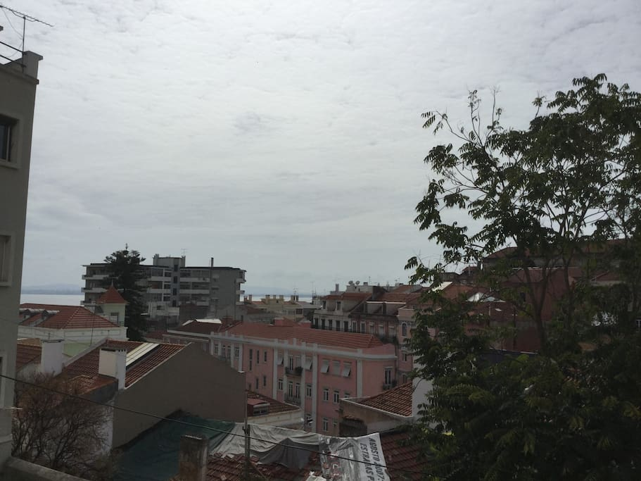 View from the room: we can see Tejo and Alfama