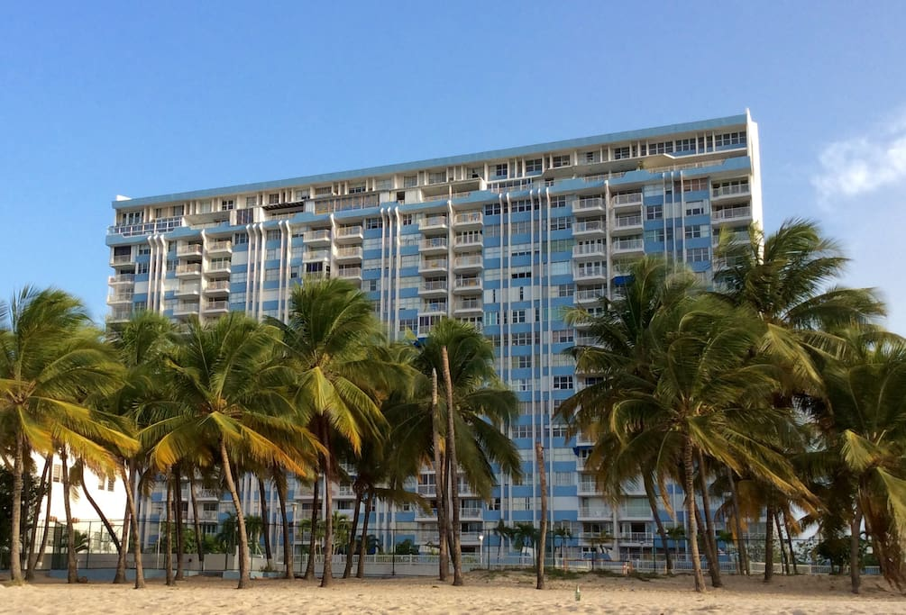 The Building as seen from the beach.