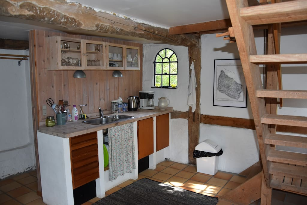 Fully equipped  kitchen with lots of old world charm.