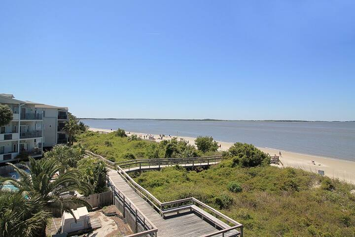 Easy beach access located steps from the pool and Bay View Villa