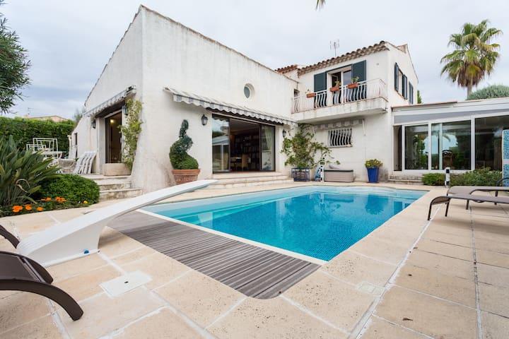 Villa pool Nice sea view and quiet - Nice - Casa