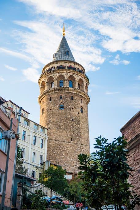 Galata Tower is just around the corner