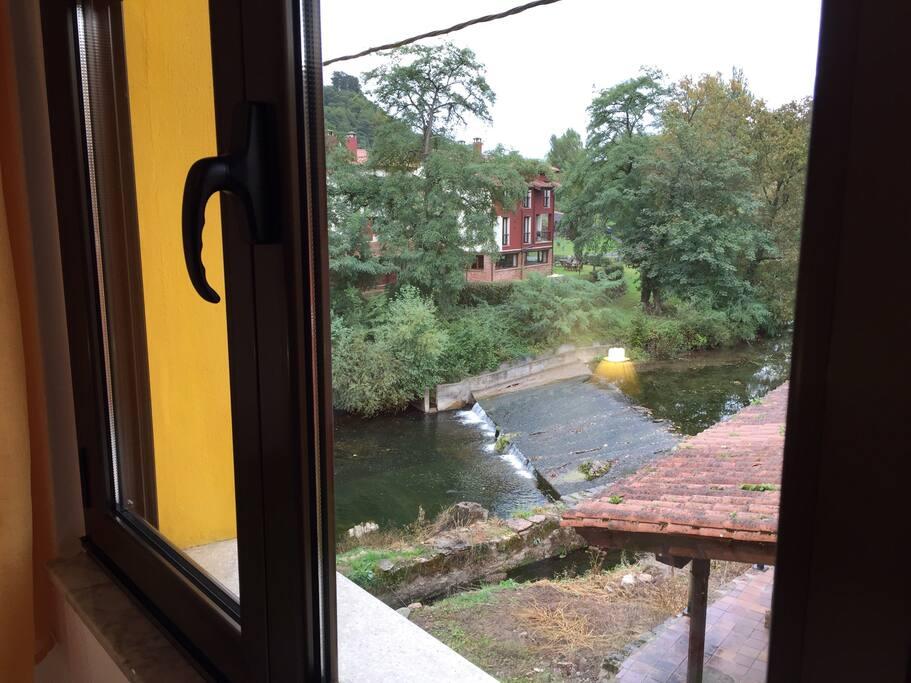 Vistas exteriores al río al campo naturaleza todo el apartamento es exterior