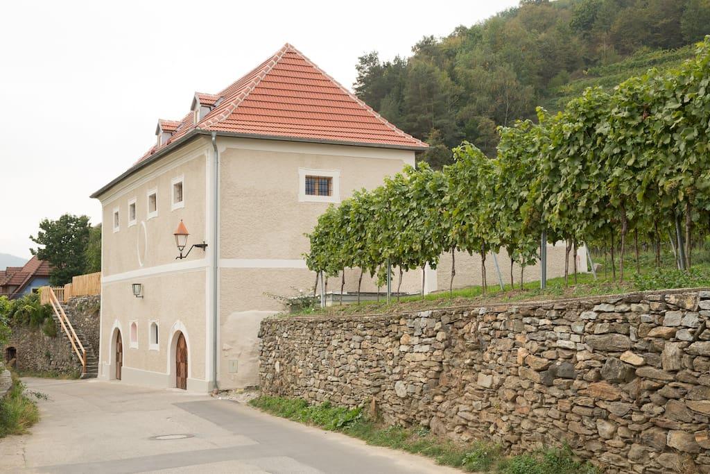 Das barocke Kellerstöckl Ost-Ansicht