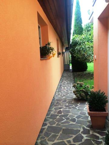 Apartment garden view