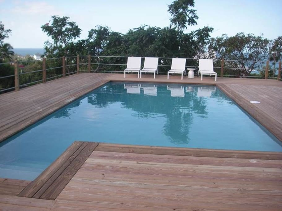 pool and deck with beautiful views