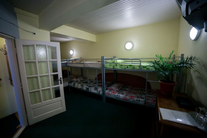 Bunk Hotel Room with Swimming Pool