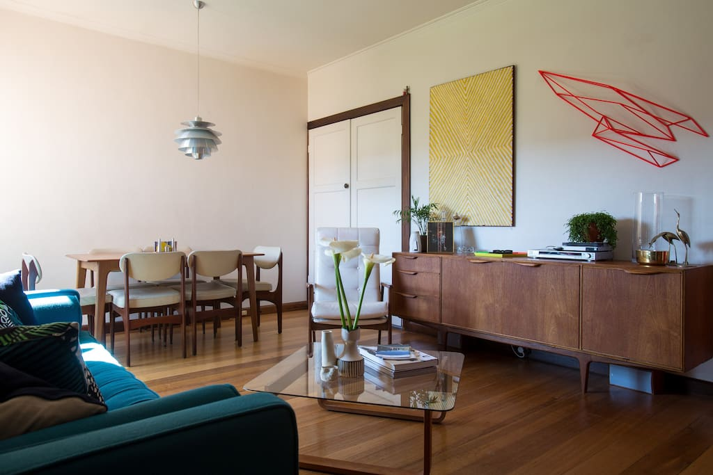Airy and Bright living/dining room