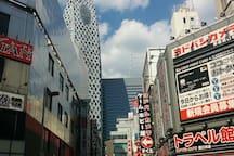Shinjuku until 2 Station! This photo electric town!