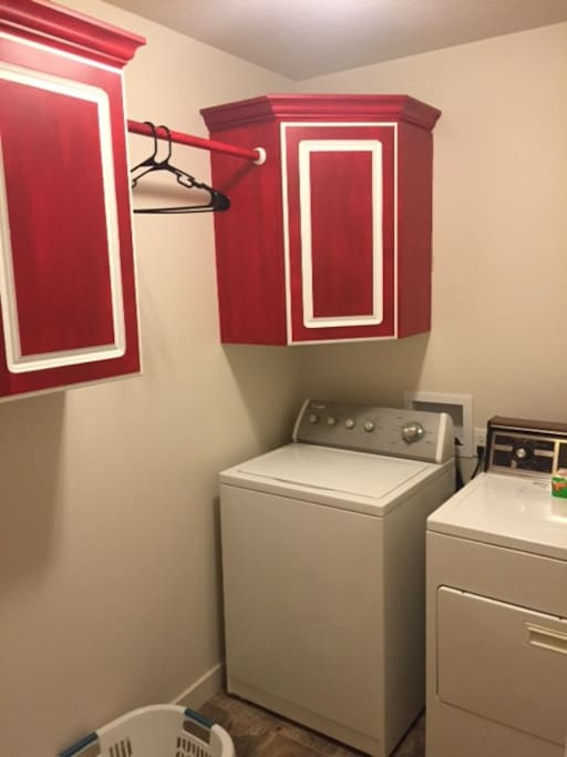 Laundry Machines available for use.