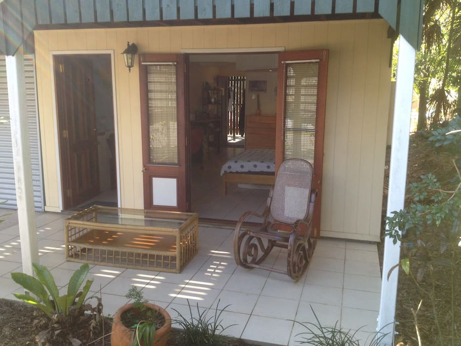 Front patio area to enjoy the cool breeze