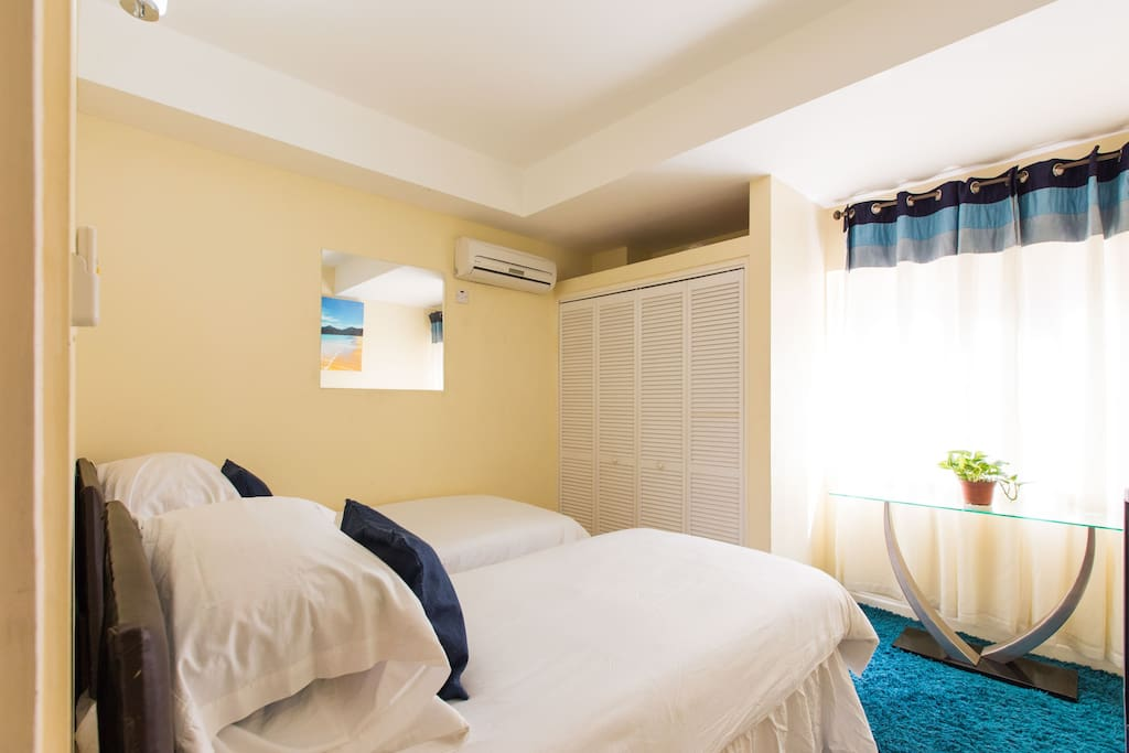 Second Bedroom with Two Twin Beds is Fully Air-Conditioned