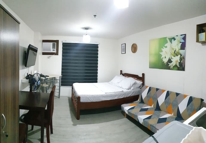 Cozy Studio w/Wifi+Netflix @ Amaia near Ayala Mall