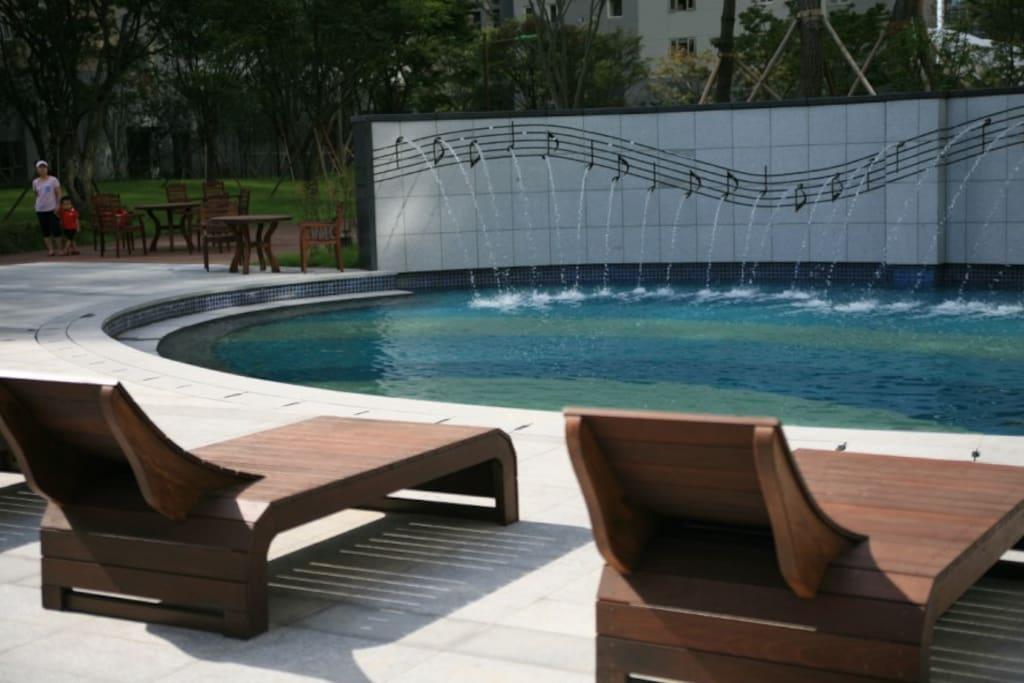 Swimming pool for kids.