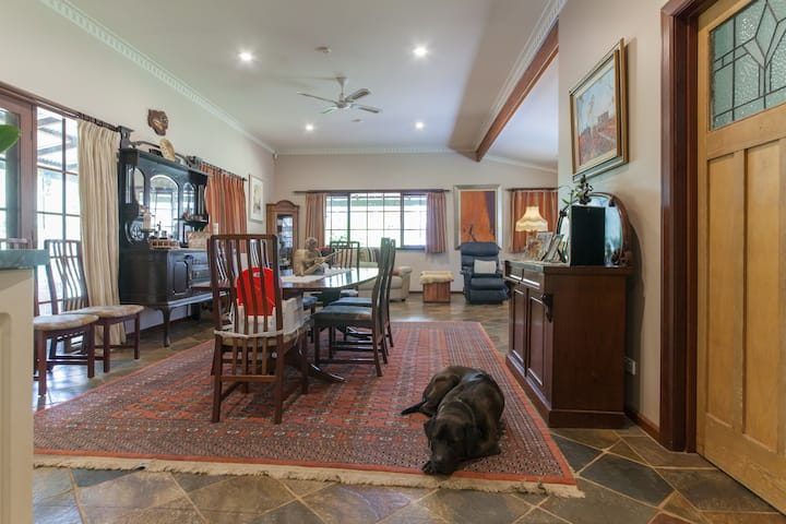 A warm inviting home with the owner
