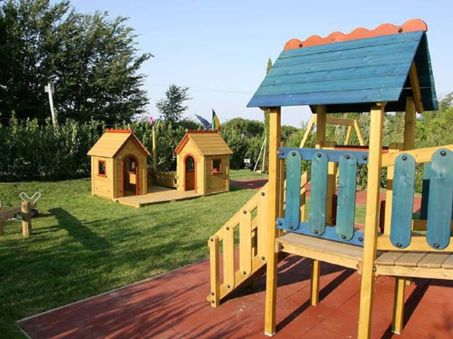 Wooden play area
