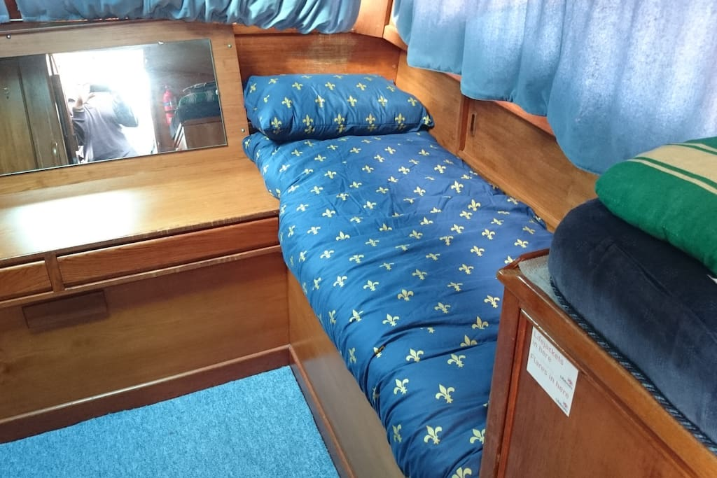 aft cabin with two single berths
