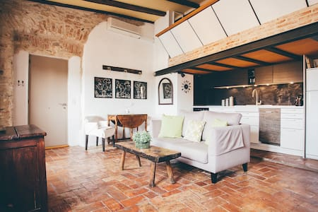 Romantic loft with sunny terrace - Begur - Loft