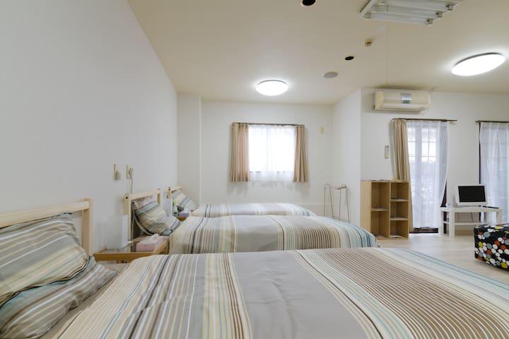 KUROMON Nippombashi 難波. Free wifi - Tennoji-ku Ōsaka-shi - Apartment