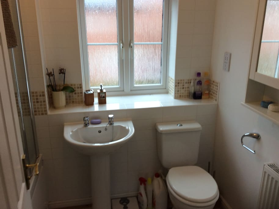Main family bathroom, Sole use but shared when another Airbnb guest uses the single room