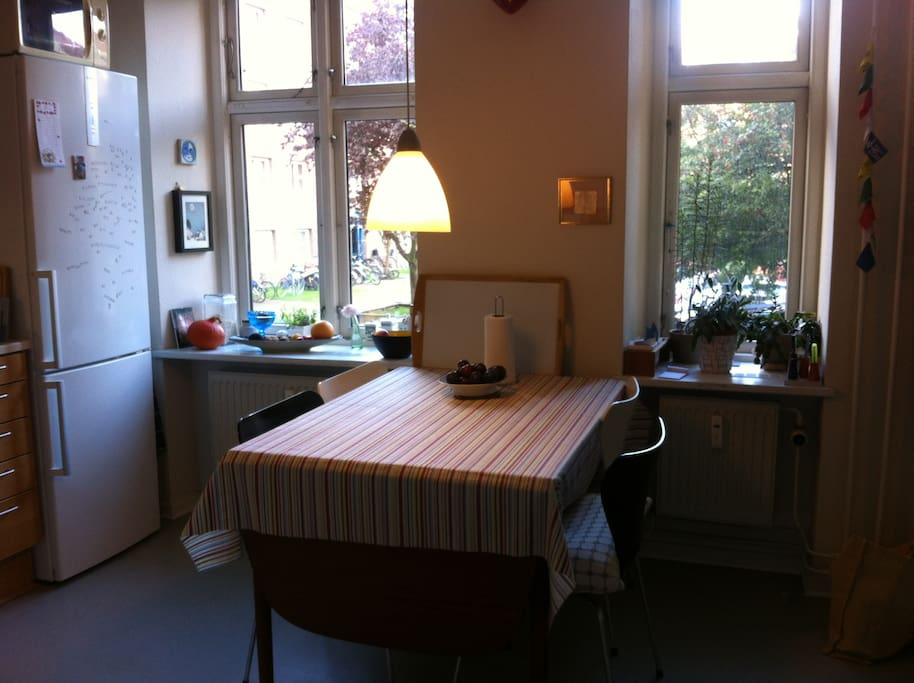 Share my kitchen, die Küche teilen.