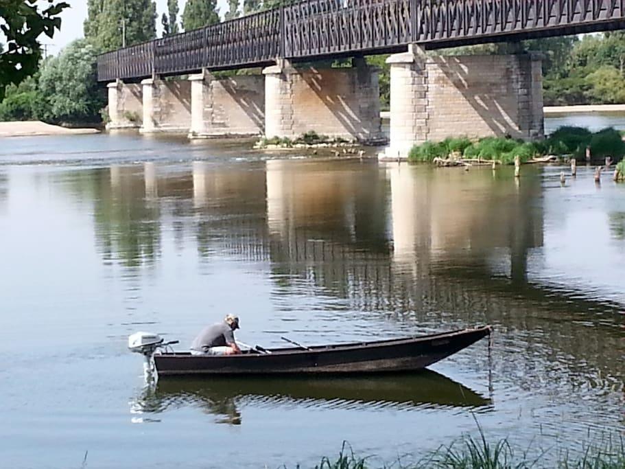 pêcheur en pleine action